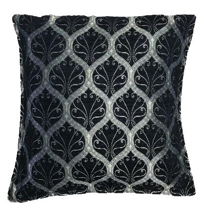 Ottoman Black Cushion Cover