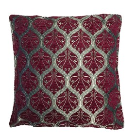 Ottoman Burgundy Cushion Cover