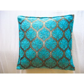 Ottoman Turquoise Cushion Cover