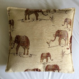 Elephants Cream Cushion Cover