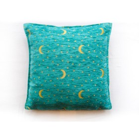Moon and Stars Turquiose Cushion Cover