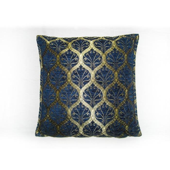 ottoman blue cushion cover. Black Bedroom Furniture Sets. Home Design Ideas