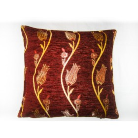 Tulip Vine Burgundy Cushion Cover