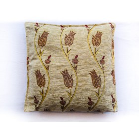 Tulip Vine Cream Cushion Cover