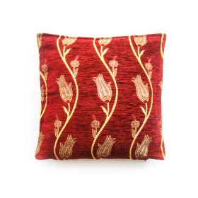 Tulip Vine Red Cushion Cover