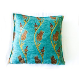 Tulip Vine Turquoise Cushion Cover