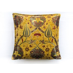 Turkish Chintz Gold Cushion Cover