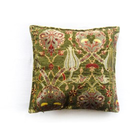 Turkish Chintz Green Cushion Cover