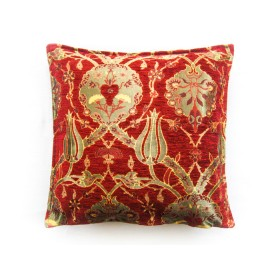 Turkish Chintz Red Cushion Cover