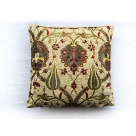 Turkish Chintz Cream Cushion Cover