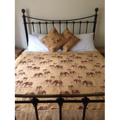 Elephants Gold Throw