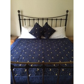 Moon & Stars Blue Throw
