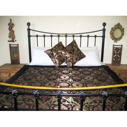 Turkish Chintz Black Throw