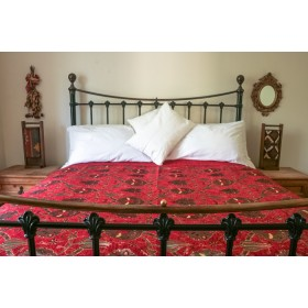 Turkish Chintz Red Throw
